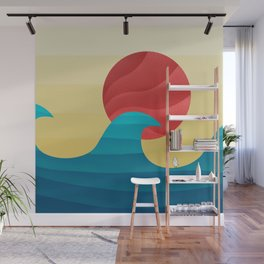 062 - The perfect summer wave Wall Mural