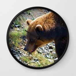 Griz - Wildlife Art Print Wall Clock
