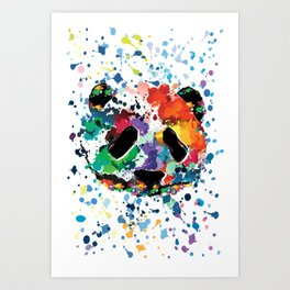 Splash panda Art Print