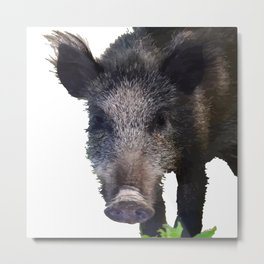 Crazy As A Peach Orchard Boar Vector Metal Print