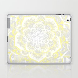 Woven Fantasy - Yellow, Grey & White Mandala Laptop & iPad Skin