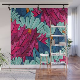 The leaves and the flowers Wall Mural