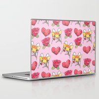 "valentines Laptop & iPad Skins featuring ""Oro?"" Valentines by Miki Lorena K."