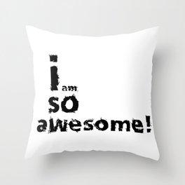 Senissowahia - text design Throw Pillow