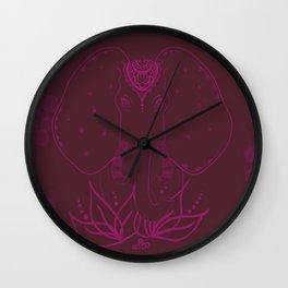 Flamboyant elephant Wall Clock