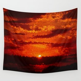 Ellipsionistic Sunset Wall Tapestry