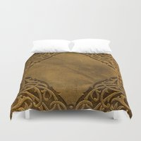 book cover Duvet Covers featuring Vintage Ornamental Book Cover by Nicolas Raymond