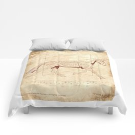 Da Vinci Horse: The Trot Revealed Comforters