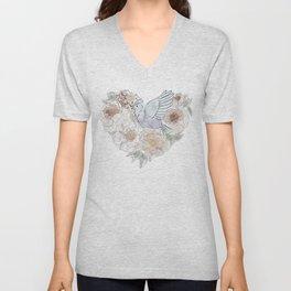 bird of paradise , paradisebirds , simple floral graphic design , gift for gardener Unisex V-Neck