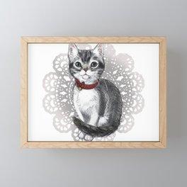 Elizabeth Bennet, the Grey Tabby Kitten Framed Mini Art Print