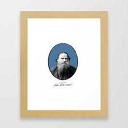Authors - Lev Tolstoj Framed Art Print