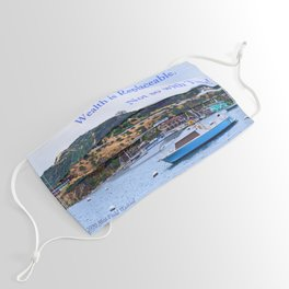 """""""Catalina Harbor""""/ """"Time"""" Face Mask"""