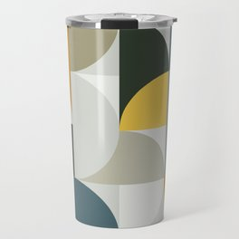 Mid Century Geometric 13 Travel Mug