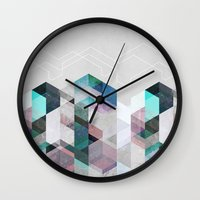 nordic Wall Clocks featuring Nordic Combination 23 by Mareike Böhmer