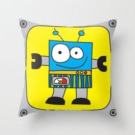 Rectangle Robot Throw Pillow