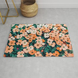 Floral Bliss #photography #nature Rug