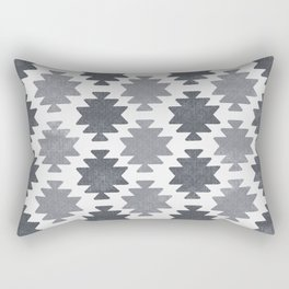 Southwestern pattern light grey Rectangular Pillow