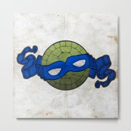 the blue turtle Metal Print