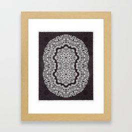 Proceed Mandala || Black and White || Linework Framed Art Print