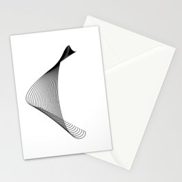 """""""Linear Collection"""" - Minimal Letter C Print Stationery Cards"""