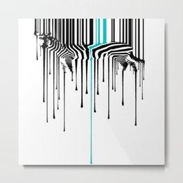 Dripping Zebra Metal Print