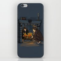 hallion iPhone & iPod Skins featuring The Witch in the Fireplace by Karen Hallion Illustrations
