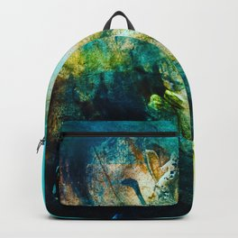 STORMY TEAL ABSTRACT PAINTING Backpack
