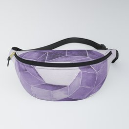 Watercolor Purple Impossible Polyhedron  Fanny Pack