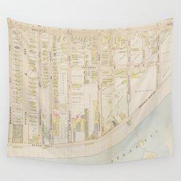 Vintage Atlantic City NJ Map (1896) Wall Tapestry