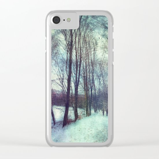 Winter Stroll Clear iPhone Case