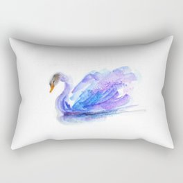 Peaceful Swan Rectangular Pillow