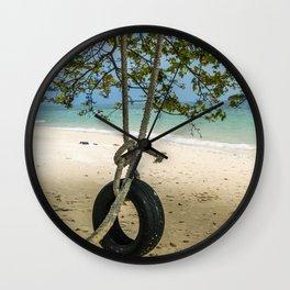 Tire Swing Wall Clock
