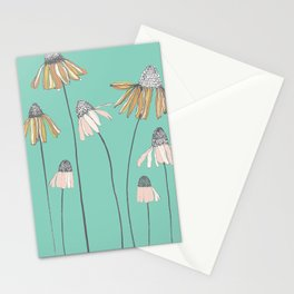Line Drawing of Weeds Stationery Cards