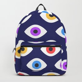 Lucky Eyes Vintage Pattern Backpack