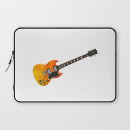 Guitar With Fire Graphics Laptop Sleeve