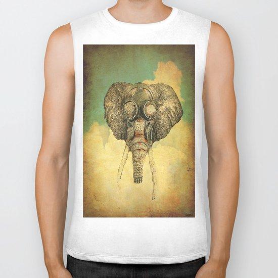 Gas mask for elephant Biker Tank