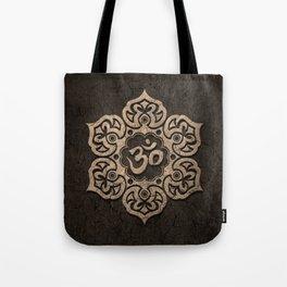 Aged Stone Lotus Flower Yoga Om Tote Bag