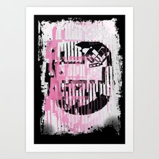 ODD MIKEY Stuff - Pinked & Inked Art Print