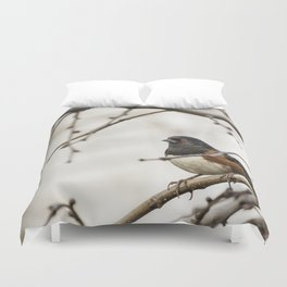 Spotted Towhee Duvet Cover