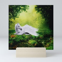 Pegasus By The Stream Mini Art Print
