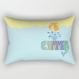 Whale summer Rectangular Pillow