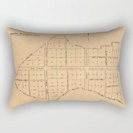 Map Of Baltimore 1729 Rectangular Pillow