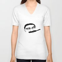 marx V-neck T-shirts featuring Groucho Marx Knit. by littlehomesteadco