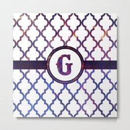 Galaxy Monogram: Letter G Metal Print
