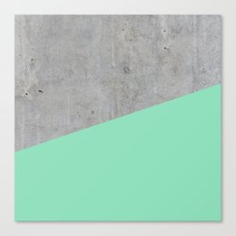 Concrete and Sea Color Canvas Print