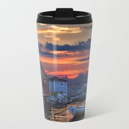 Last Light at Peggy's Cove Harbor Travel Mug