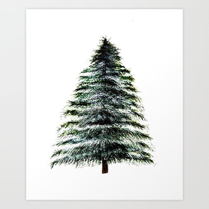 Evergreen Tree Tapestry Art Print