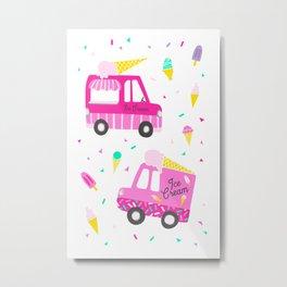 Ice Cream Party Metal Print