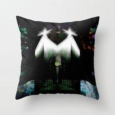 Graffiti Heads Throw Pillow