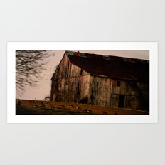 From the Road at Dusk Art Print